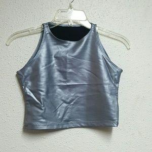 Women's Metallic Crop Top